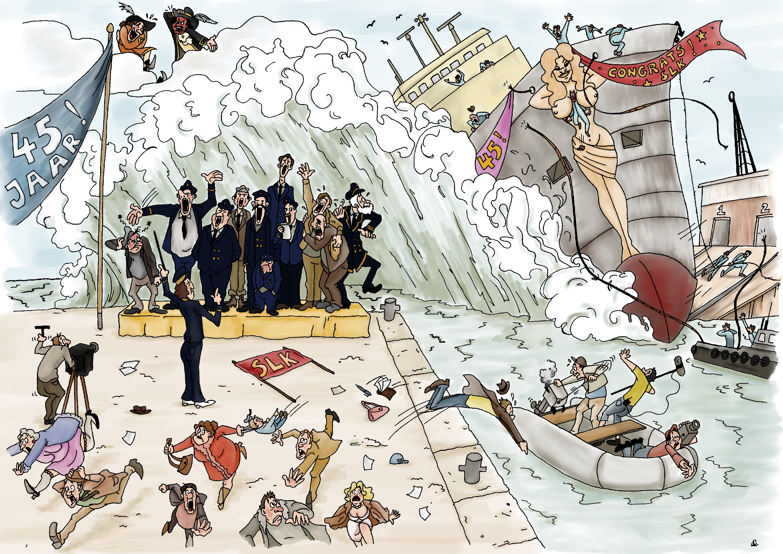SLK 45 jaar, illustraties, prent,loodswezen, zeevaart, koor