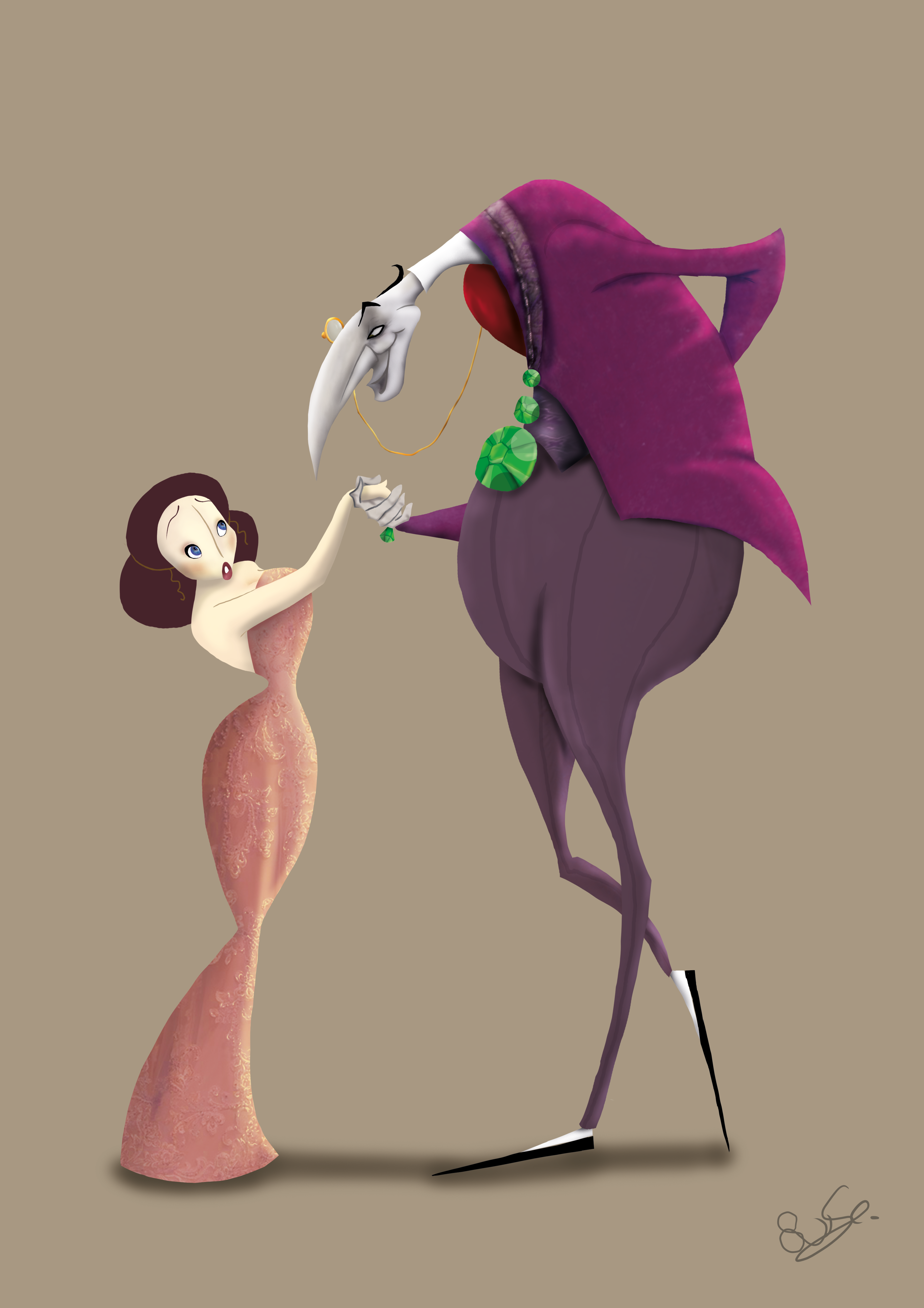 karakter design, man, vrouw, photoshop