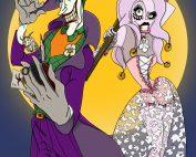 Joker, Harley Quinn, Marvel, Batman, villain, moonlight