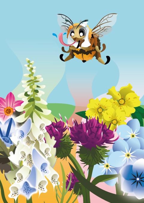 wilde bijen, kinderboek, illustraties laten maken, kinderboekenillustrator, bloemen, bijen, natuur, bijenstichting, knnv, kinderboek kopen, illustraties ontwerpen