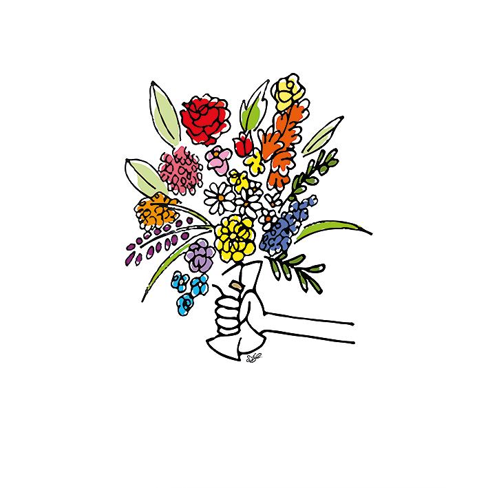 rouwkaart, bloemisten, kaart, rust, stil, veer, tekst, illustratie, overleden, gedichten, kleurrijk, planten, veer, bloemen, verjaardag, wenskaarten maken