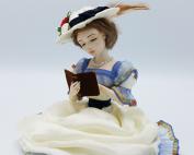 lezende vrouw, victoriaans, sculptuur, handgemaakt, boek