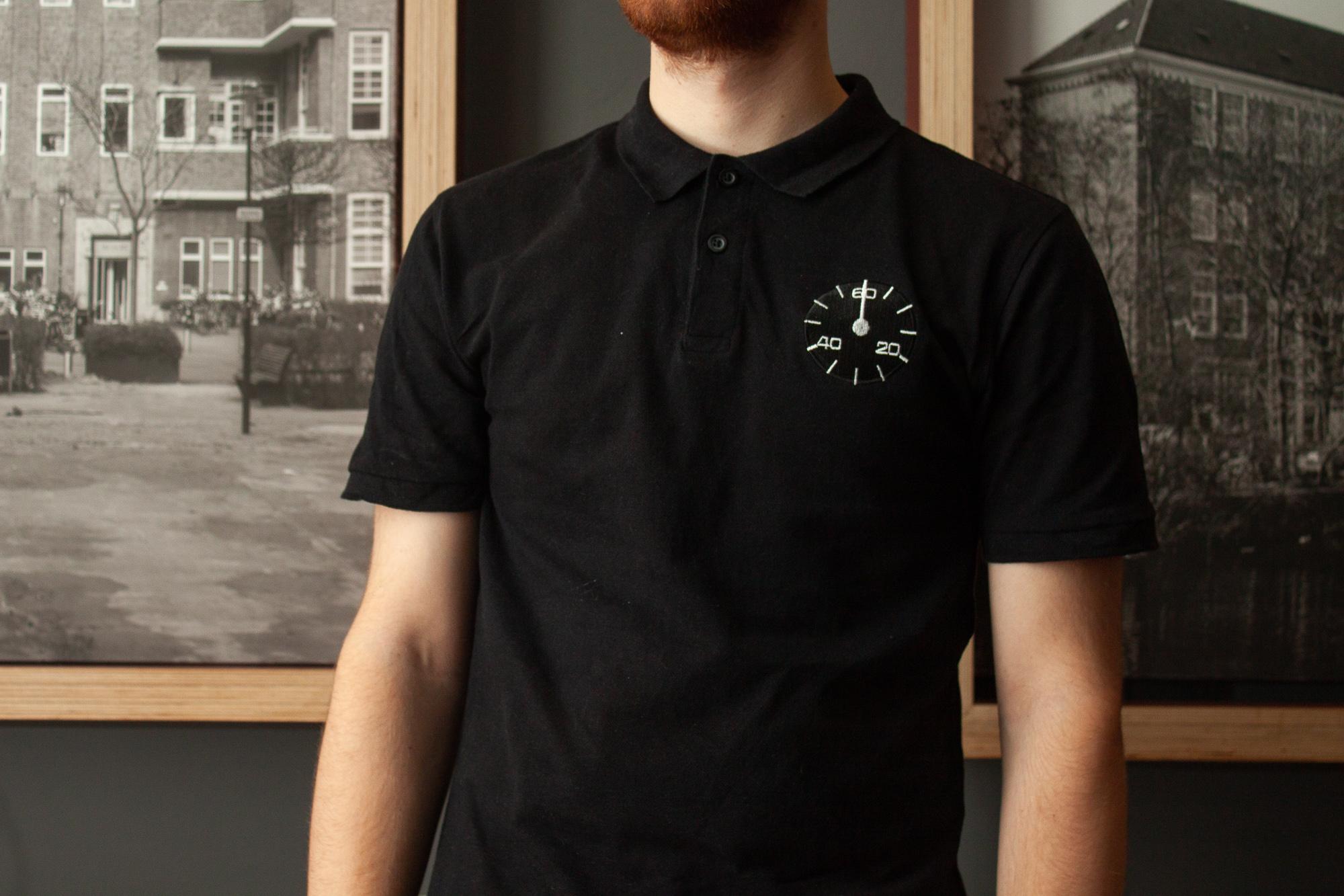 shirts bedrukken, t-shirt, klokken, zwarte shirt, dali, webshop, illustratie laten maken, t-shirts laten ontwerpen, thirts borduren, ontwerpen, cadeaushop Rotterdam, Delfshaven winkels, shop, horloges, horlogeprints