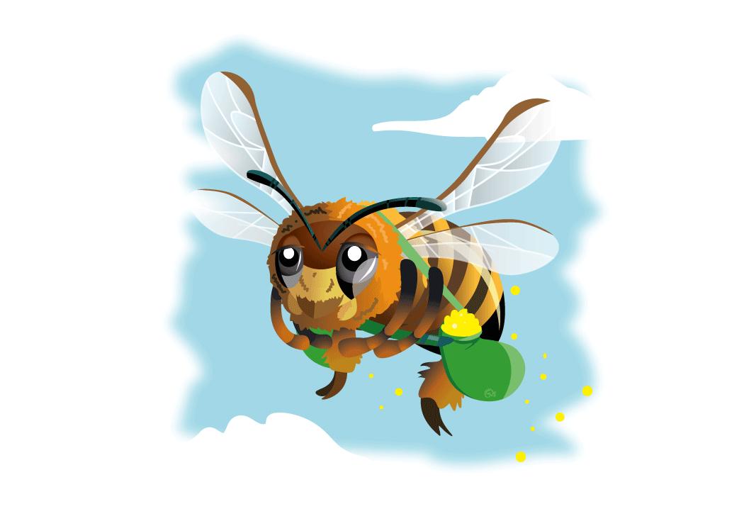 wilde bijen, kinderboek, illustraties laten maken, kinderboekenillustrator, bloemen, bijen, natuur, bijenstichting, knnv, kinderboek kopen, illustraties ontwerpen, honing, stuifmeel, bloemsoorten, bloemillustraties