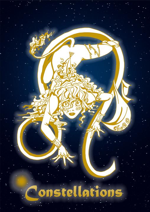 leeuw, sterrenbeeld, leo, poster, leeuw, relatiegeschenken, zodiac, the artistry, illustratie