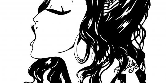 Amy winehouse, ink, drawing, illustratie maken, zwart wit, zangeres, muziek, design