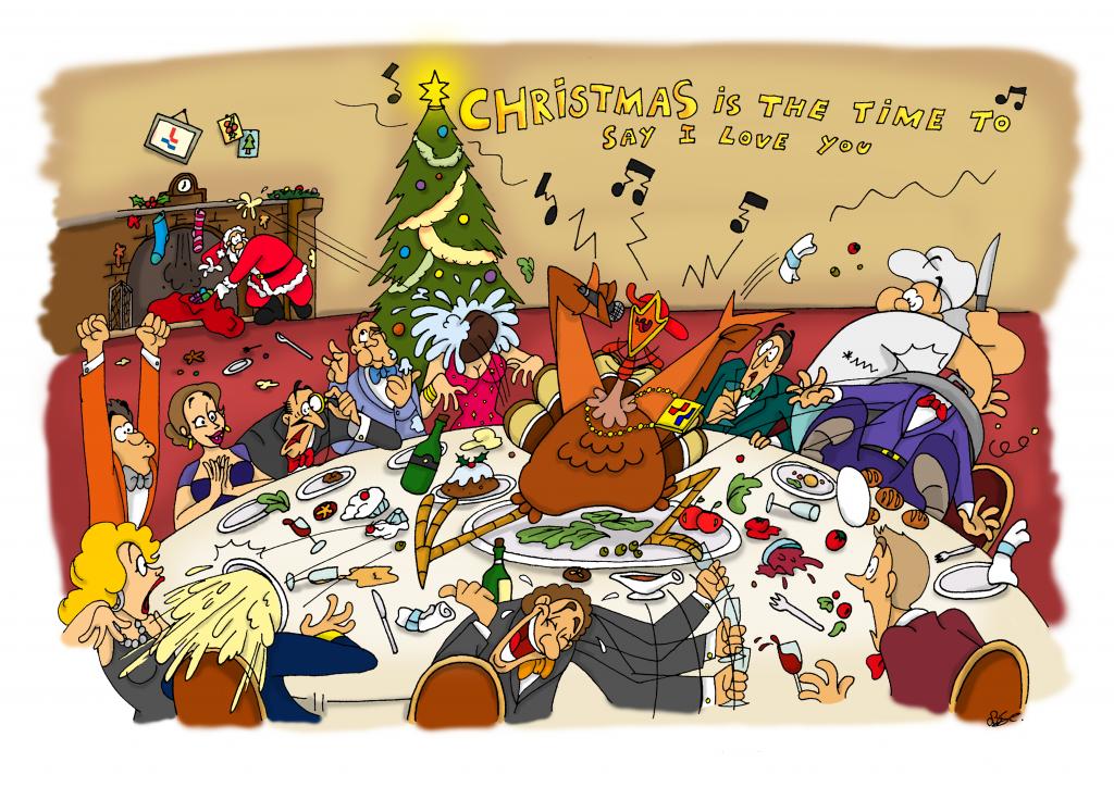 Loodswezen, kalender, kalender maken, illustratie laten maken, kleurrijk, loodsen, zee, schepen, loodsboot, bedrijf, cartoon, kerst, kerstdiner, kerstborrel