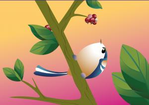 vogels, eksters, kalender, vogelkalender, kalender laten maken, illustratie, illustratie laten maken, grafische design, planten, bloemen, kaarten, kaarten laten maken, rotterdam, cadeaushop rotterdam, Delfshaven, cadeauwinkel, staartvinken