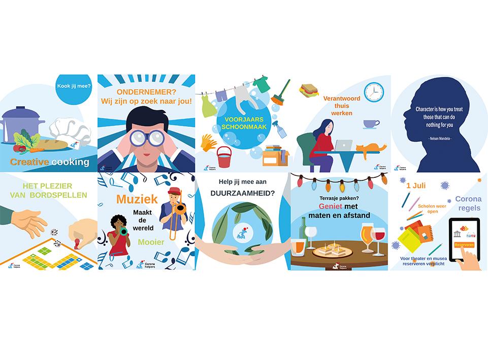 illustratie, illustratie laten maken, life coaching, the artistry, kleurrijke, tekeningen, corona, Covid19, hulp, illustrations, infographics, infographic laten maken