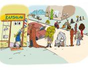 illustratie, cartoon, covid-19, coronavirus, illustratie laten maken, prent, kappers, kappers weer open, coronaproof, maatregelen, virus, knippen, hair