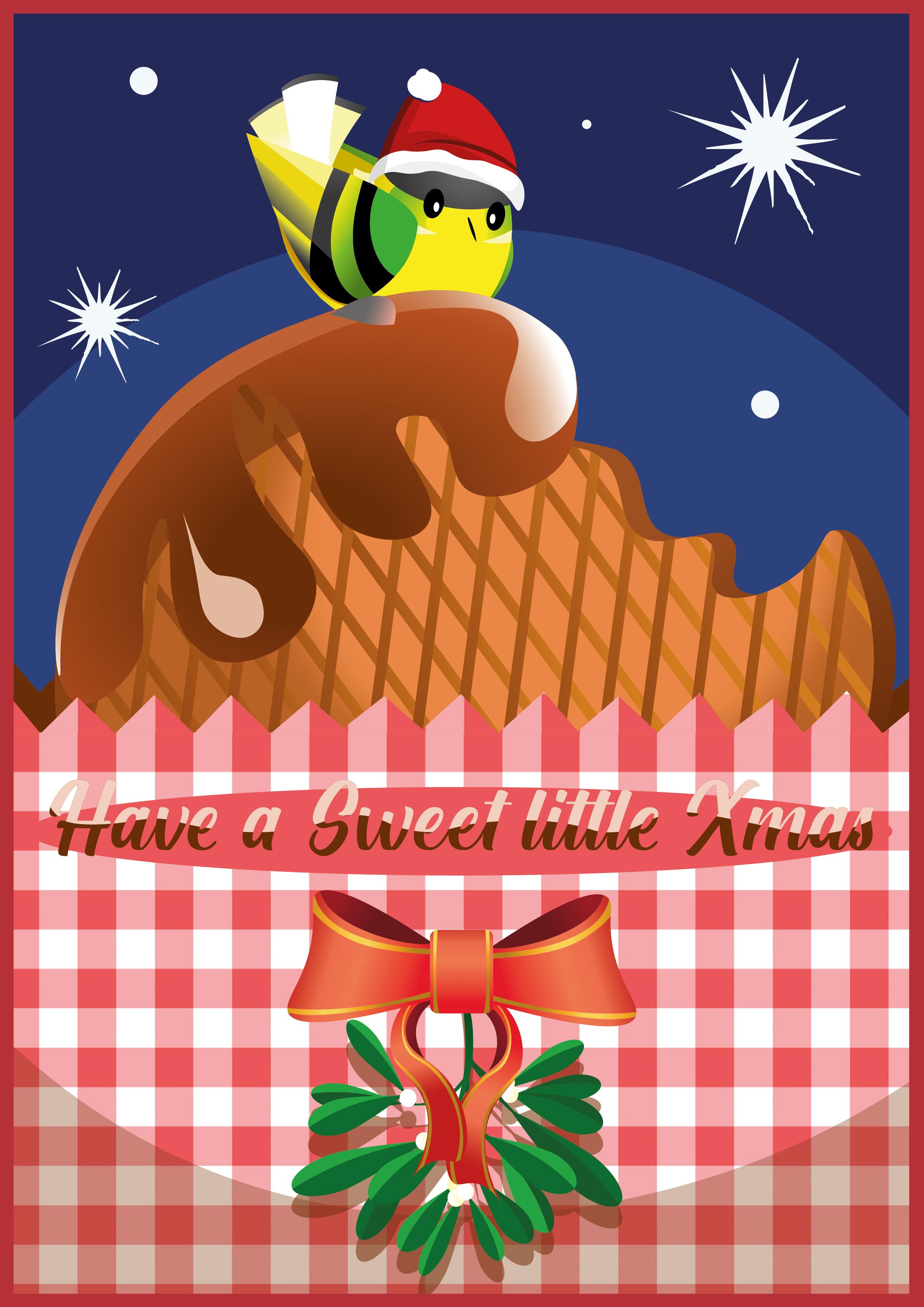 kerstkaarten, kerstkaart, kerstman, wenskaarten zelf maken, illustraties, mooie wenskaarten, kerstmis, kerst, christmascards, zelf ontwerpen The Artistry, 't stroopwafelhuisje, stroopwafelbreda