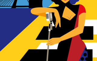 Art deco, Art illustraties, the artistry, poster, artwork, Rotterdam, Jazz, Songfestial Rotterdam, The artistry