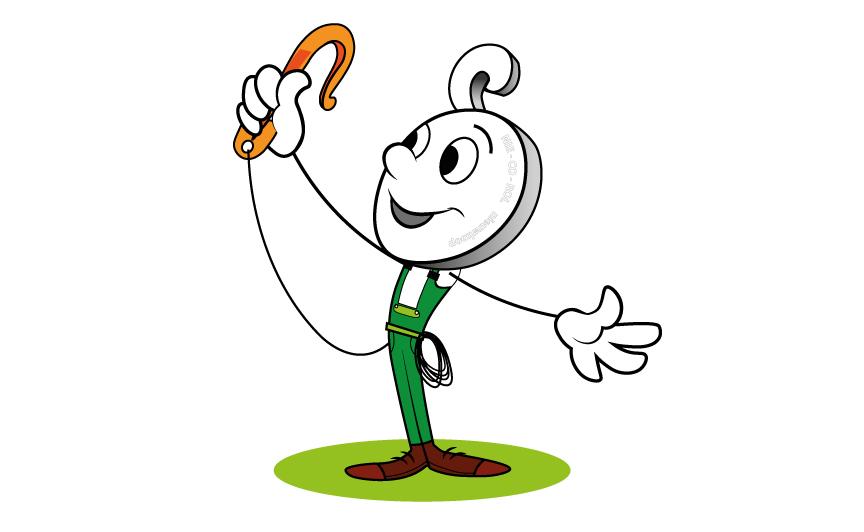 mascotte nieco op witte achtergrond, hoe maak je een animatie, zelf een illustratie maken, design