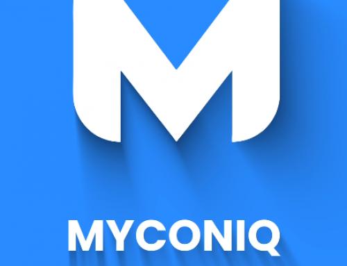 MYCONIQ logo reveal